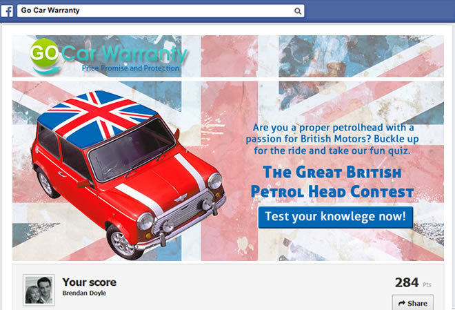 Facebook Motoring Quiz